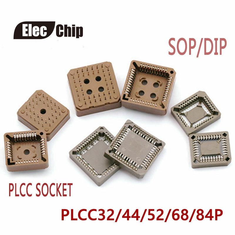 5 uds circuito integrado toma adaptador IC PLCC-32 PLCC-44 PLCC-68 PLCC-84 base de pruebas PLCC32 PLCC44 PLCC68 PLCC84 A DIP SOP