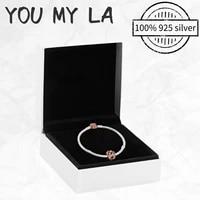 new 925 silver jewelry bracelet pando pav%c3%a9 bracelets for women men diy birthday jewelry gift making free shipping