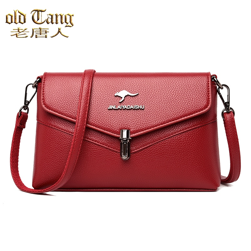 Square Flap Casual Women Bags High Quality Leather Shoulder Messenger Bags for Women 2021 New Women'