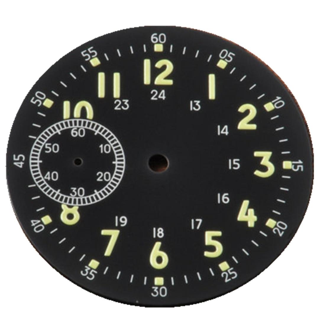 39mm uhr zifferblatt fitsETA 6497 oder Seagull st3600 Manuelle bewegung