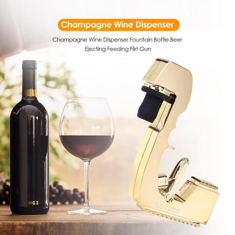 Garrafa de vinho champanhe dispensador de vinho fonte cerveja ejetor alimentação arma festa de casamento clube noturno bar dispensador de vinho tiro pourer