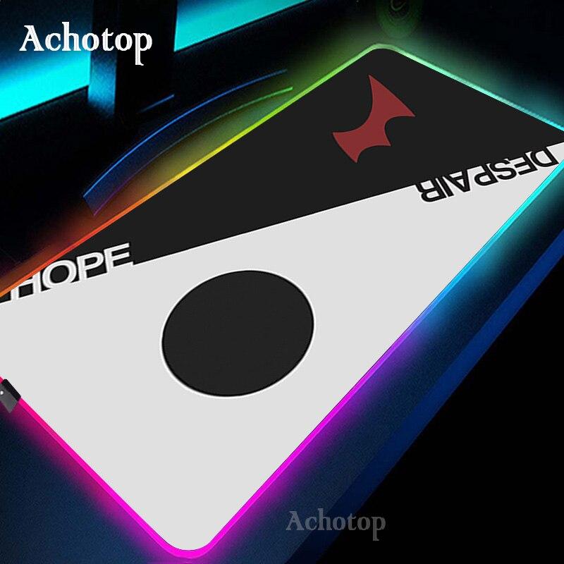 Danganronpa LED Light Gaming Mouse Pad RGB Large Keyboard Cover Non-Slip Rubber Base Computer Carpet Desk Mat PC Game Mouse Pad