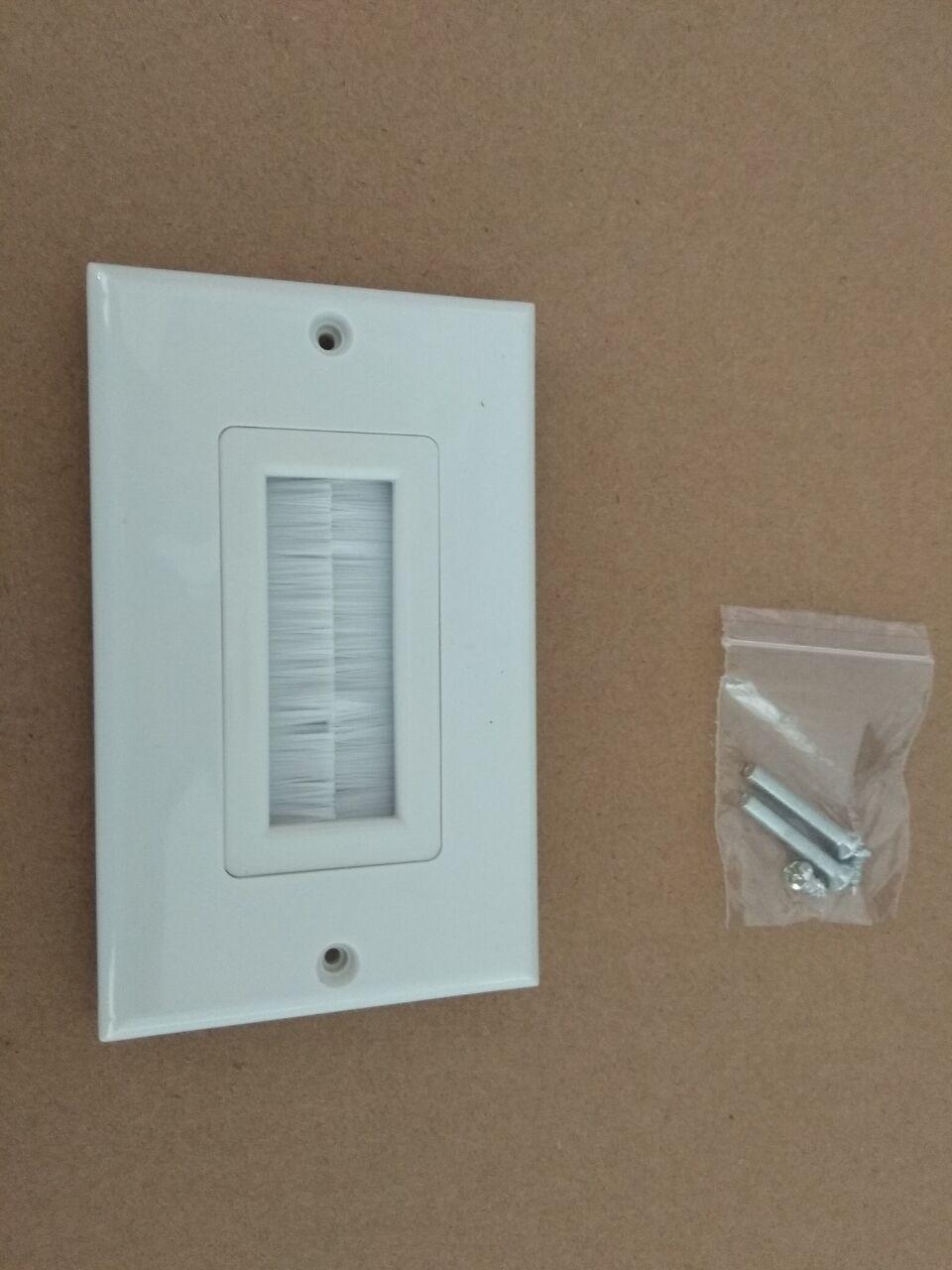 1 sola banda cerdas cepillo placa de pared Puerto insertar cubierta salida Panel de montaje