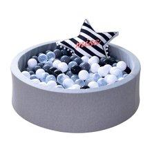 Bébé sec piscine escrime Manege tente gris rose bleu boule ronde piscine Pit parc sans balle jeu jouets pour enfants cadeau danniversaire
