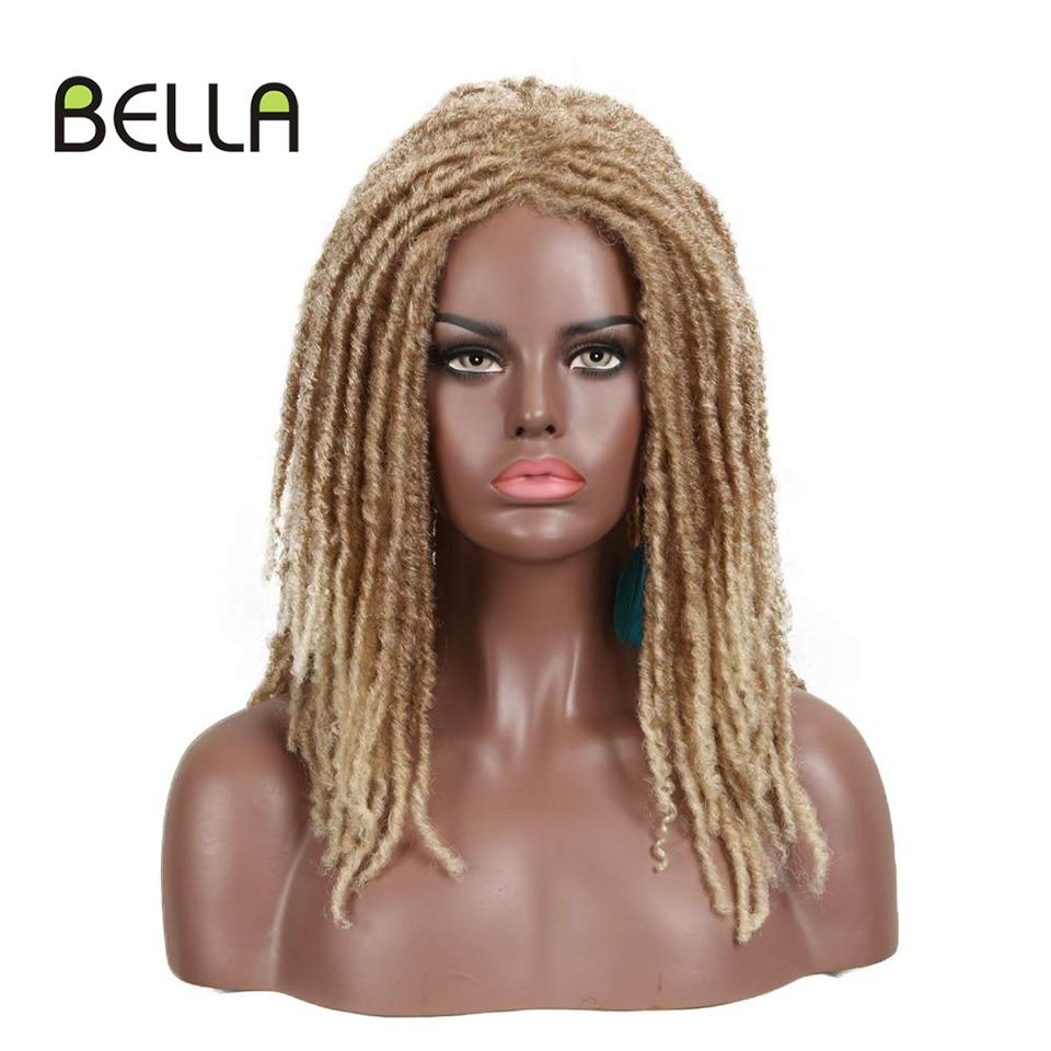 """Bella Synthetic Wig For Black Women 22"""" Crochet Wig Braids Twist Jumbo Dread Faux Locs Long Afro Wig Dreadlock Hair Braiding Wig"""