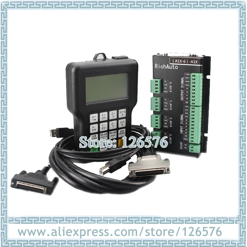 Sistema de control de movimiento genuino de 3 ejes, idioma inglés, controlador DSP A11E