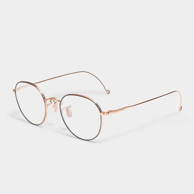 2020 لطيف ماركة نظارات إطار الرجال الرجعية الجولة وصفة طبية النظارات الكورية قصر النظر النظارات البصرية النساء نظارات للقراءة
