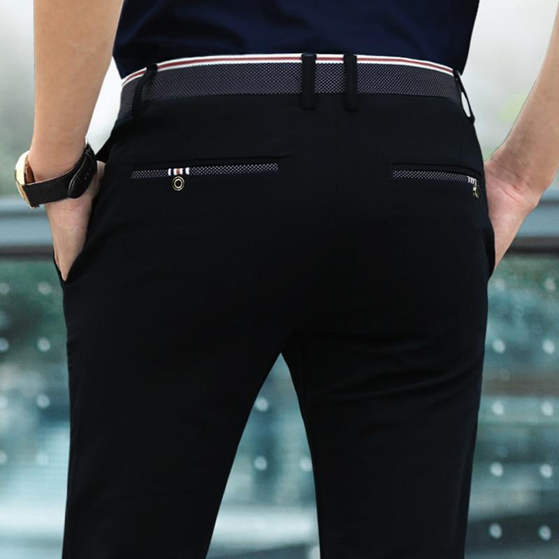 Men's Four Seasons Casual Pants Business Pants No-Iron Straight-Fit   Dress Pants Formal Trousers Long Pants Bottoms