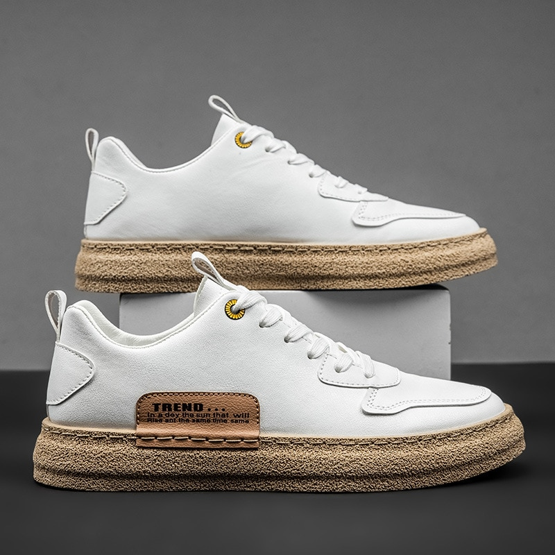 2021 Spring New Men's Sneakers Low-top Casual White Shoes Trendy Men's Shoes Lace-up Shoes