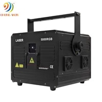 5w rgb laser projector stage animation light 40kpps ilda small beam full color lighting