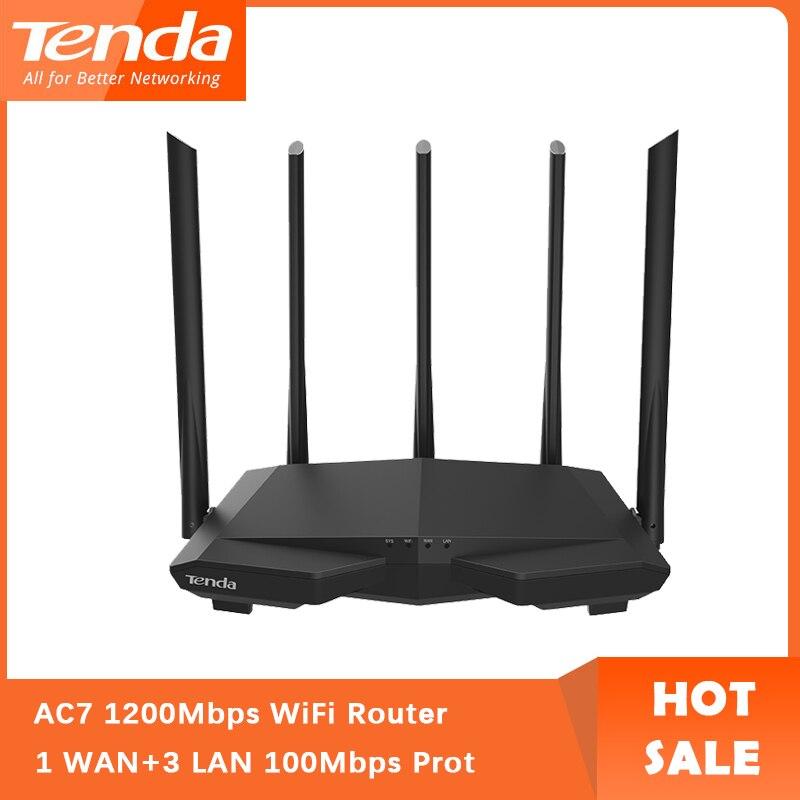 Tenda AC7 wifi роутеры 11AC 2,4 ГГц/5,0 ГГц Wi-Fi ретранслятор 1 * WAN + 3 * LAN 5 * 6dbi антенны с высоким коэффициентом усиления умное приложение управление англий...