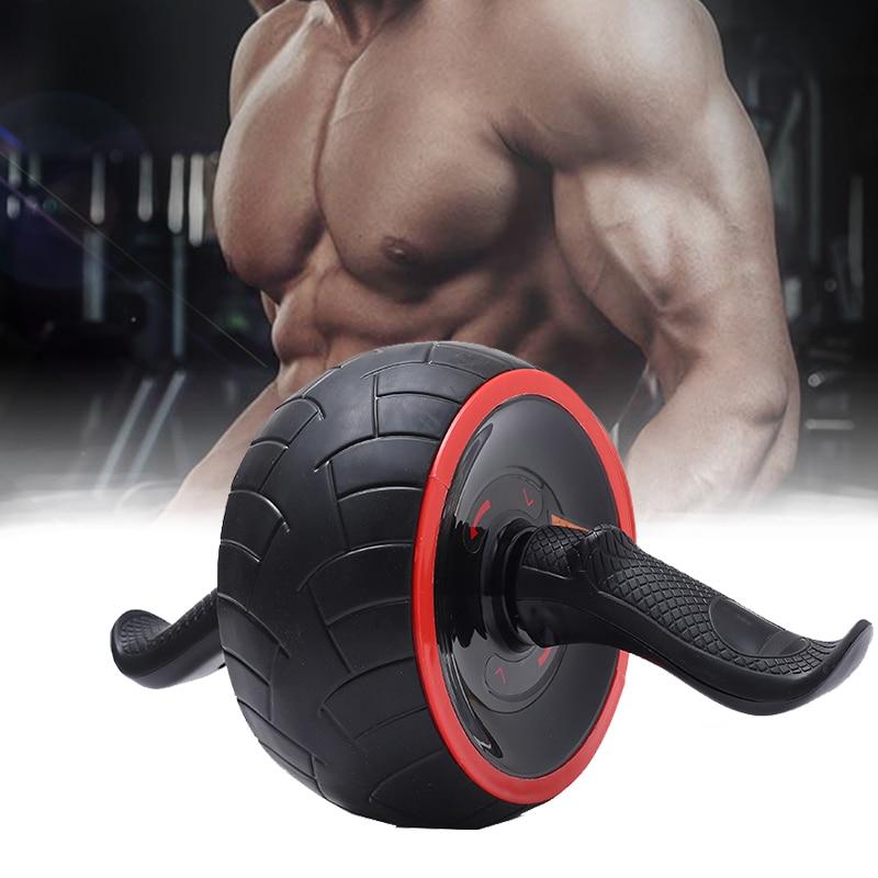 Rolos de roda abdominal rebote automático ab rolo muscular exercício ruído livre equipamentos fitness trainer treinamento fitness em casa