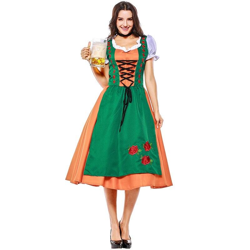 Cerveza mujer bávara disfraz de chica cerveza Sexy Oktoberfest Festival carnaval fiesta disfraz de Halloween para las mujeres