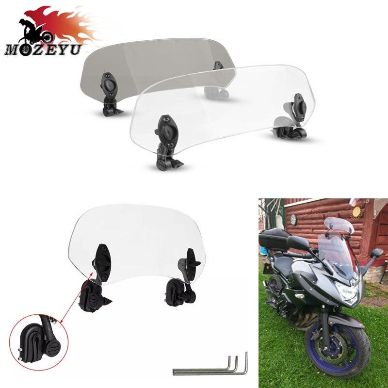 Clip ajustable de motocicleta en la extensión del parabrisas Spoiler Blade Deflector de viento para Aprilia SRV 850 ABS/ATC SRV850 SR MAX300