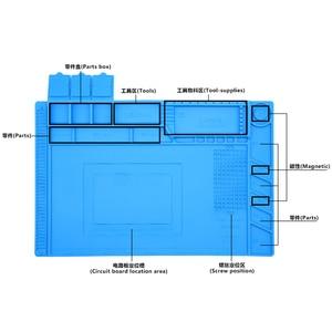 Sequre Heat Insulation Working Mat Heat-resistant Soldering Station Repair Insulation Pad Insulator Pad Maintenance Platform