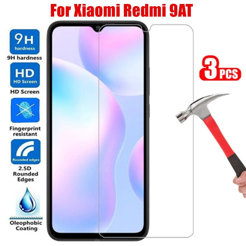 3pcs For Xiaomi Redmi 9 AT redmi9 at Screen Protector Protective Glass on xaomi Ksiomi Redmi 9at 9 AT Safety Tempered Glass