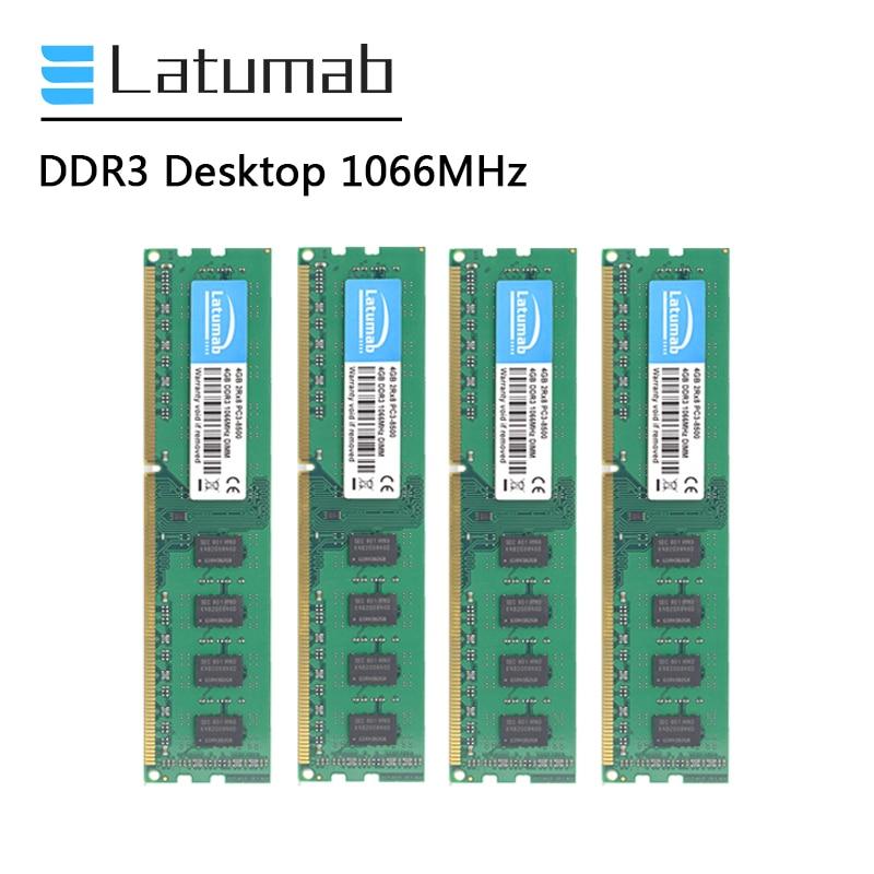 Оперативная память Latumab DDR3, 2 ГБ, 4 ГБ, 8 ГБ, Настольная память, 1066 МГц, память для ПК, модуль оперативной памяти для ПК, модуль памяти