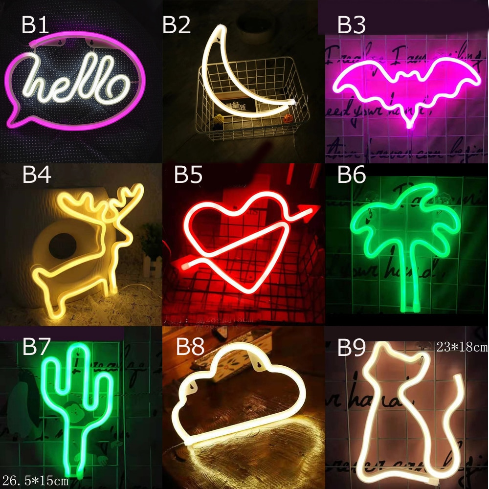 Letrero de neón de colores arcoíris luz de neón Led personalizado para habitación, fiesta en casa, decoración de boda, regalo de Navidad, lámpara de neón