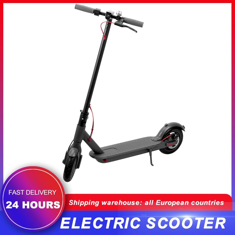 Scooter Eléctrico plegable adultos E Scooter conectar al teléfono móvil con fuerte potencia máxima resistencia 30km
