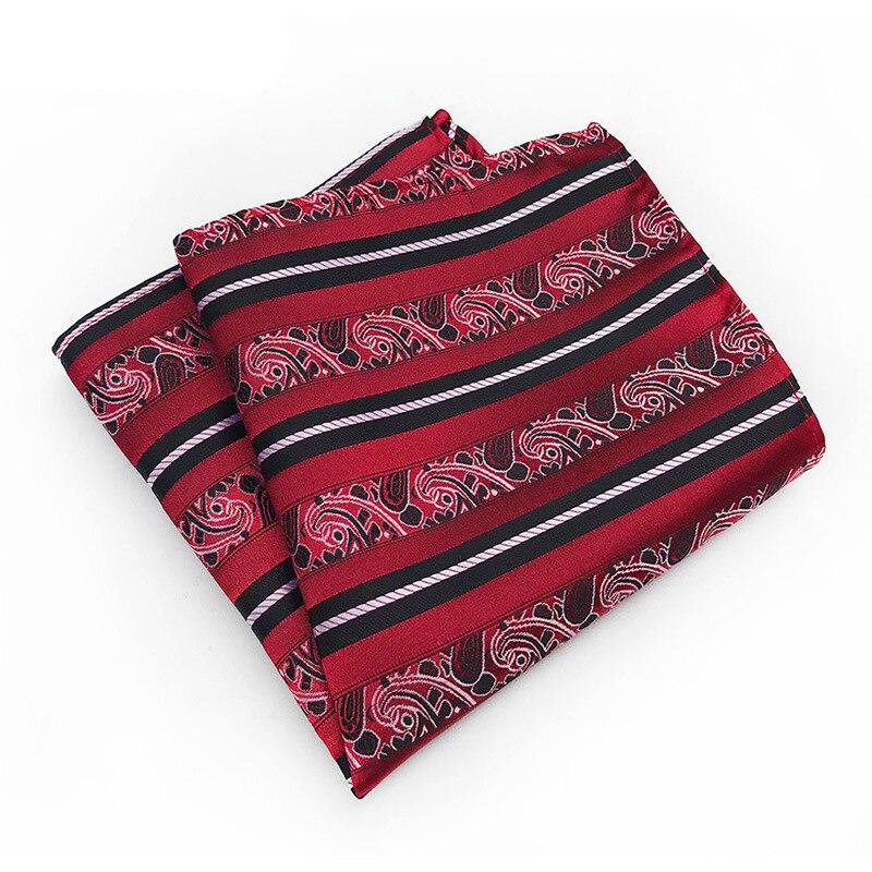 Bolso de casamento masculino quadrado poliéster seda gravata lenços moda jacquard gravata masculino listrado gravata bolso toalha presente para homem