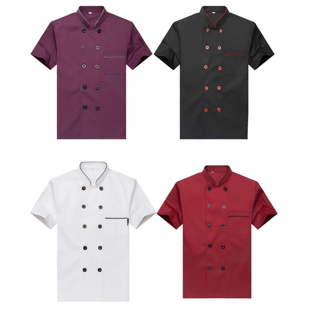 Униформа шеф-повара для отеля, кондитерский шеф-повара, кухни, Комбинезоны для мужчин и женщин, одежда шеф-повара с коротким рукавом