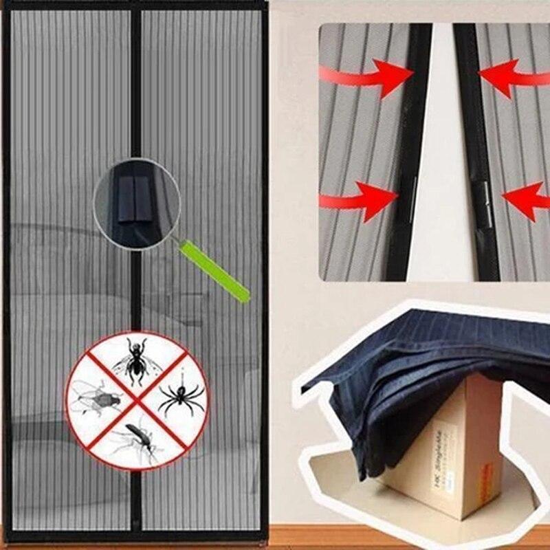 Magnetic Screen Door Hands-Free Magnetic Mosquito Net Door Net Anti Fly Insect Mosquito Door Screen Anti-Mosquito Magnetic Door