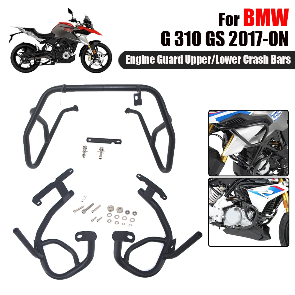 For BMW G310GS G 310 GS G310 GS Motorcycle Upper Lower Crash Bars Engine Guard Bumpers Tank protector Cover 2017-2019 2020 2021 недорого