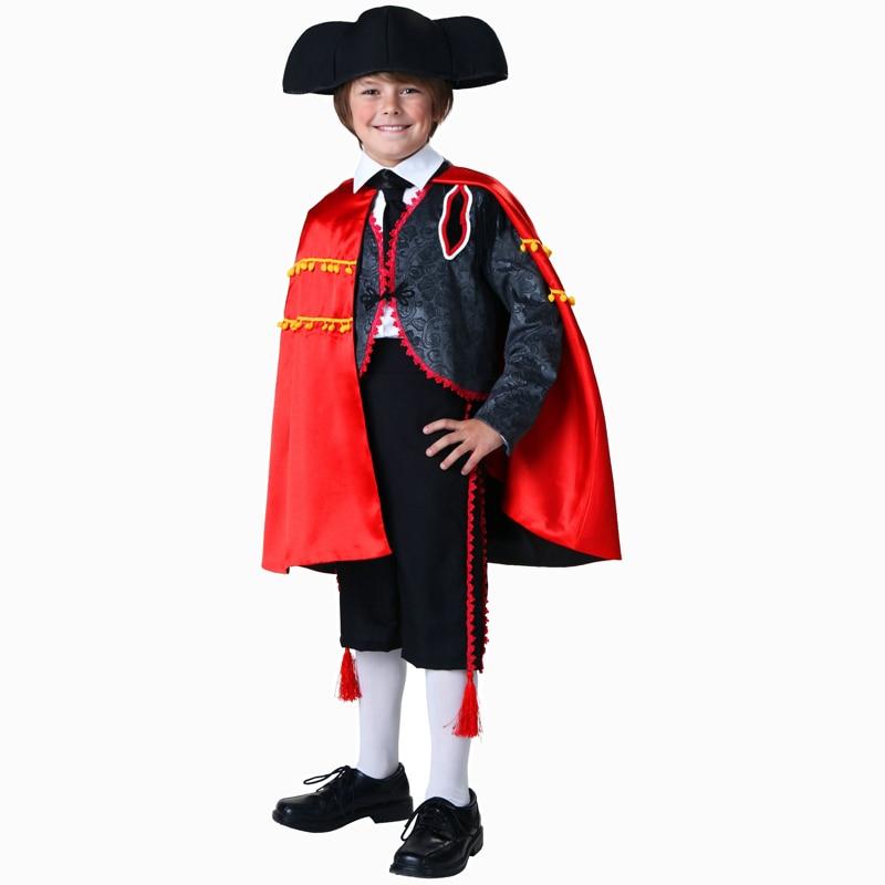 Disfraz Matador encantador para niños, disfraz de Halloween para niños, traje de Guerrero para fiesta de Carnaval