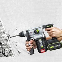WORX 3 fonctions AC électrique marteau rotatif industr marteau perceuse à percussion sans fil avec batterie au Lithium perceuse électrique