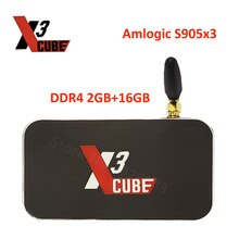 Caixa superior ajustada 9.0g/5g wifi lan 2.4 m bluetooth 4 k caixa da tevê do andróide 1000 amlogic s905x3 2 gb ddr4 16 gb rom