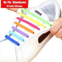 16Pcs/Set Silicone Elastic Shoelaces Elastic Shoe Laces Special No Tie Shoelace for Men Women Lacing