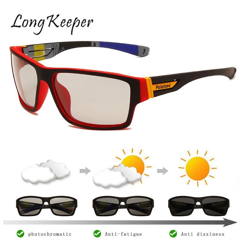 Солнцезащитные очки Мужские фотохромные, поляризационные хамелеоны, поляризационные очки для вождения, очки для рыбалки с УФ-защитой