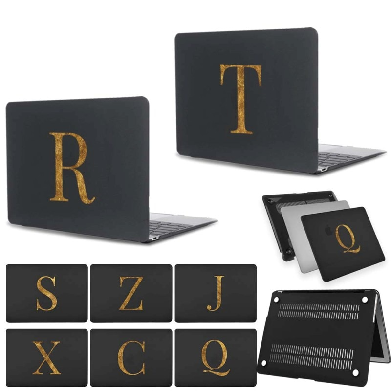 Laptop Case for Apple Macbook Air 13/Air 11/Macbook 12 Inch 26 Letter Series Frosted Hard PVC Cover Case
