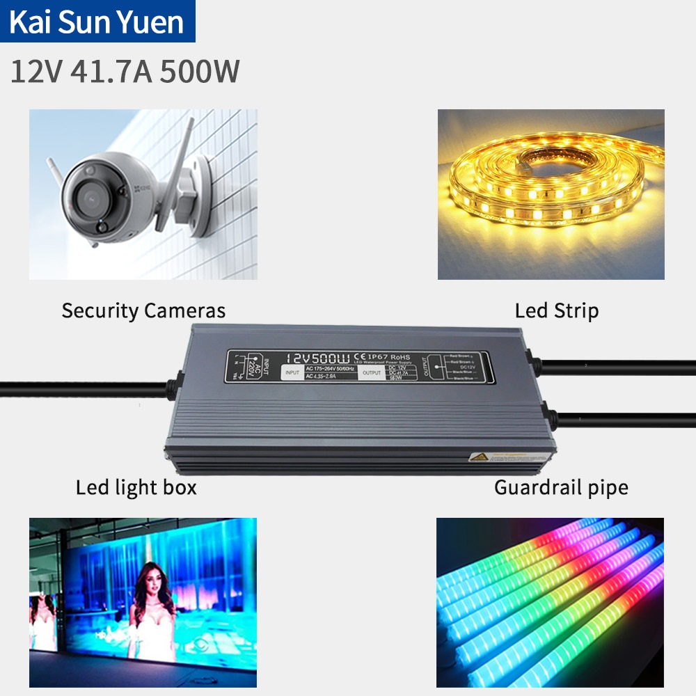 Manufacturer Direct LED Waterproof Power 12V41.6A500W Luminous Word LampStrip Security Monitoring Buried Lamp Lighting Project D enlarge