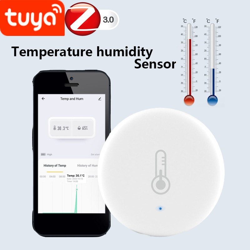 4/1 pcs tuya zigbee temperature humidity sensor detector for home LCD Hygrometer thermometer support