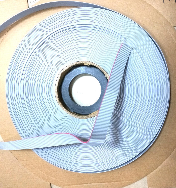 10pcs 765M lot Superior quality (1pcs/A reel of/76.5M 1.27m Pitch Flat Ribbon Cable) For 2.54mm FC IDC 12p 14P 16P  20P New