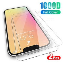 2pcs protective glass on for iphone 13 pro max i phone 13 mini cases iphone13 screen protector tempe