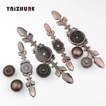 Antique Bronze armoires de cuisine tiroir boutons commode armoire armoire meubles tire poignée boîte en bois rétro bijoux boutons