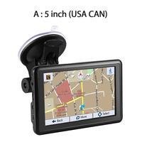 5/7 HD Car GPS Navigation USB Car Charger Latest Europe US Canada Map Convenient FM Transmitter Navigator GPS Device
