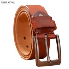 Top Leather Cowhide Belt Fashion Genuine Leather Men Belt Alloy Buckle Strap For Male Wide Cinto Masculino Luxury Cummerbund