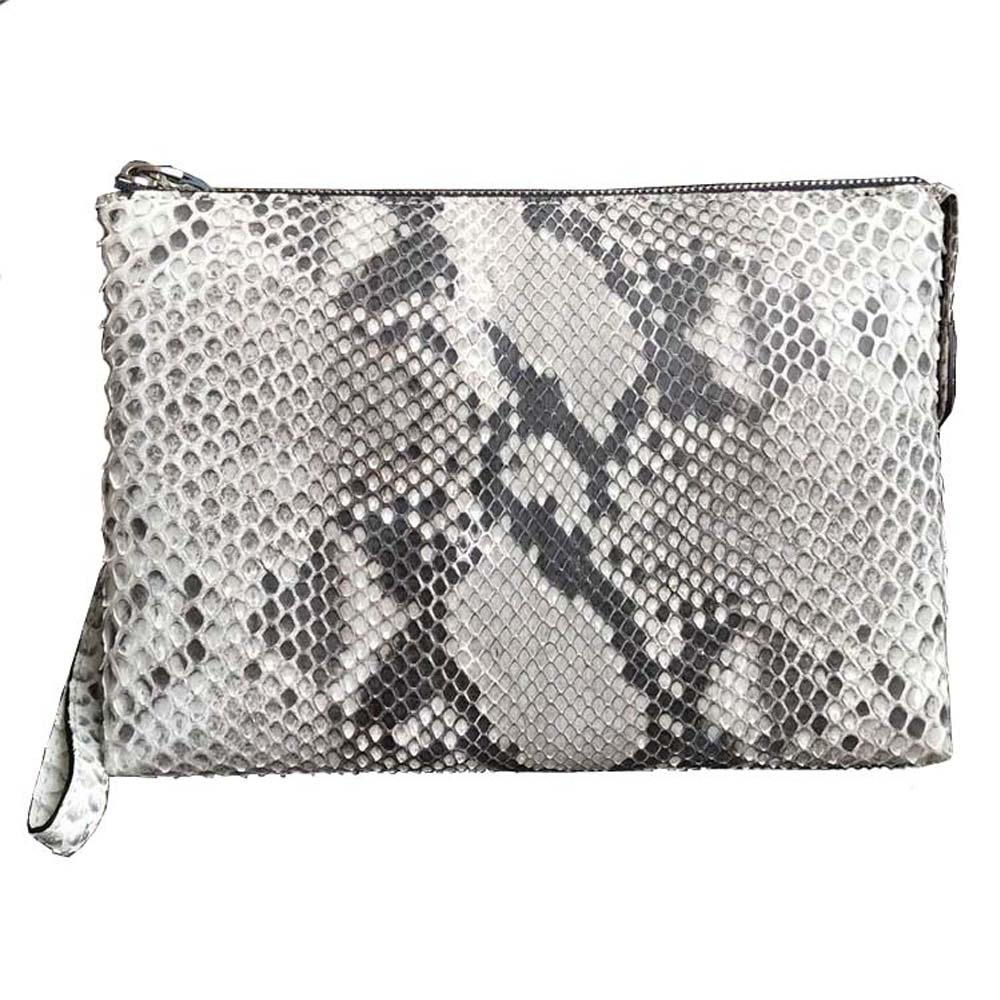 hongsen new arrival Python skin  men clutch  bag  male  Genuine snake leather  Hand caught  fashion  Men bags