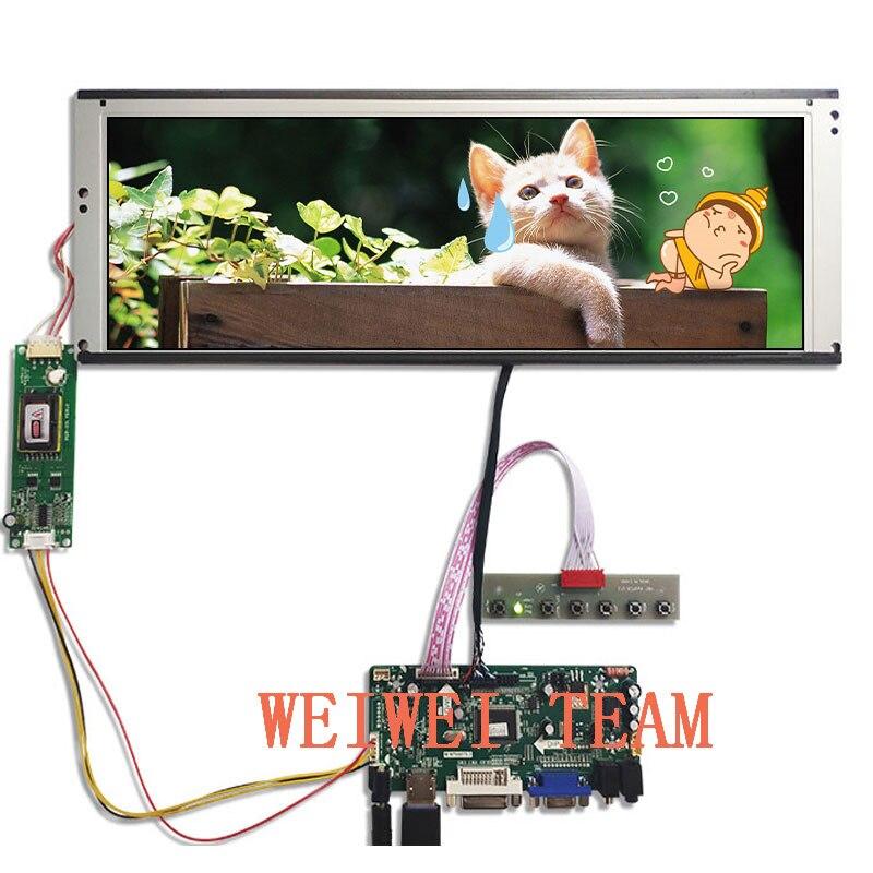 Wisecoco 14,9 дюймов 1280x390 TFT дисплей растягивается Бар ЖК дисплей LTA149B780F экран ультра широкий VGA DVI LVDS HDMI драйвер платы