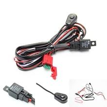 Kit de câblage de câbles de voiture 12V 4.5A   De câblage de câbles de voiture avec interrupteur marche/OFF, fusible de lame de relais pour barre, phare antibrouillard Automobile
