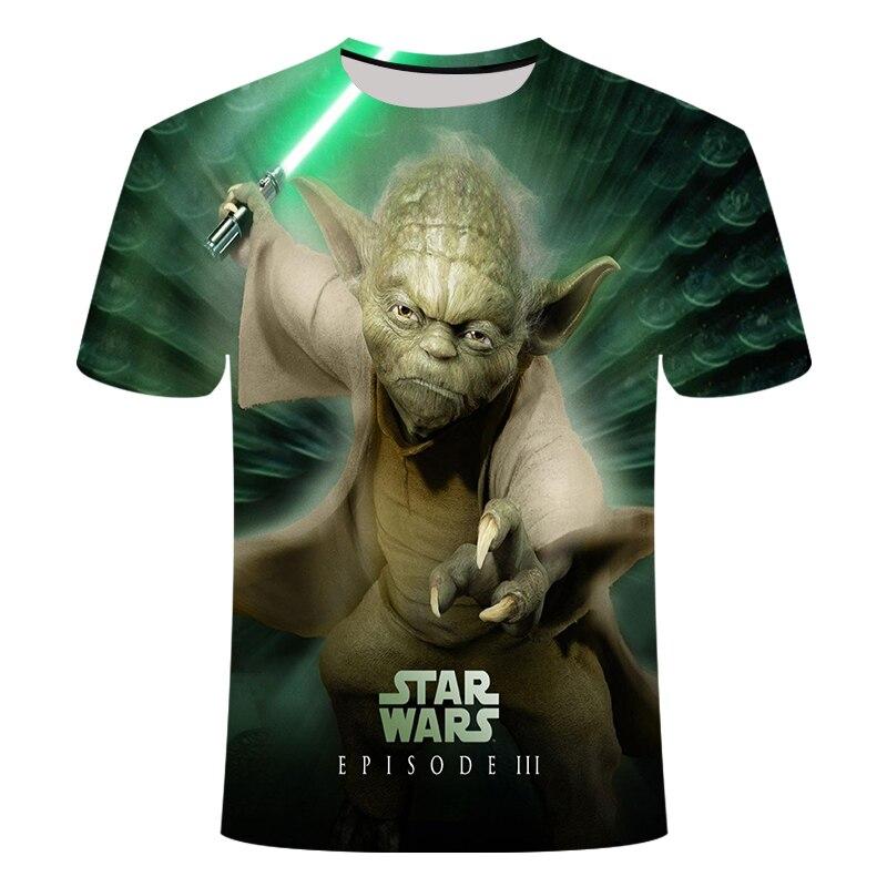 Nueva camiseta a la moda de Star Wars para hombre y mujer, 3D Camiseta con estampado de la película de Star Wars, camisetas casuales, camisetas de verano, ropa de marca