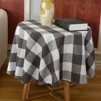 nordic plaid balcony small table coffee table cloth round table bedroom brown diameter 120 casual round tablecloth fabric