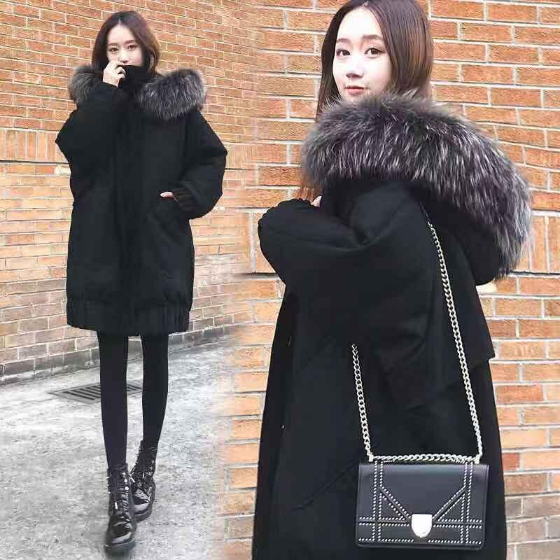 Maternity Clothing Autumn Winter Women Black Overcoat Stylish Female Thick Warm Velvet cotton Jacket Casual Girls Streetwear