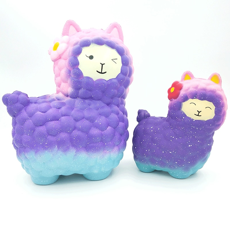 Colorful Cute Beauty Mini Sheep Shape Stress Reliever Slow rising hot sales high quality custom cute toys alpaca squishy enlarge