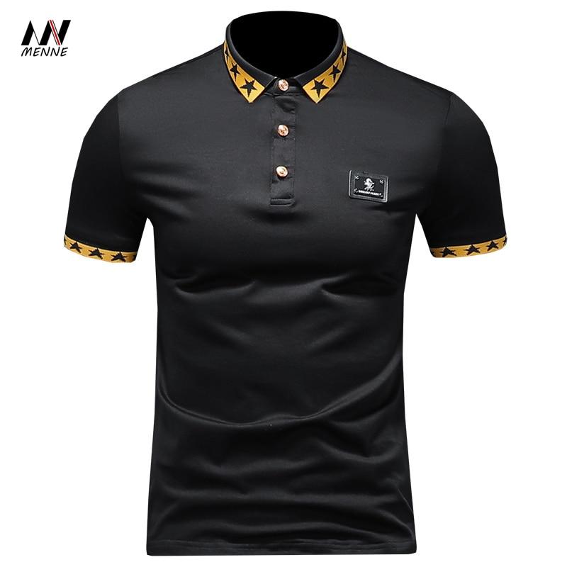 2020 summer Hot sale letter print men polo shirt men shortsleeve shirt Breathable polo-shirt cotton men's polo shirt