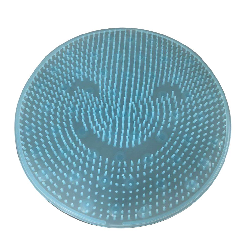 De silicona perezoso lavado de baño de pie de artefacto volver cojín de masaje suela a la piel muerta lavado cepillo de baño de la succión de la Copa Mat