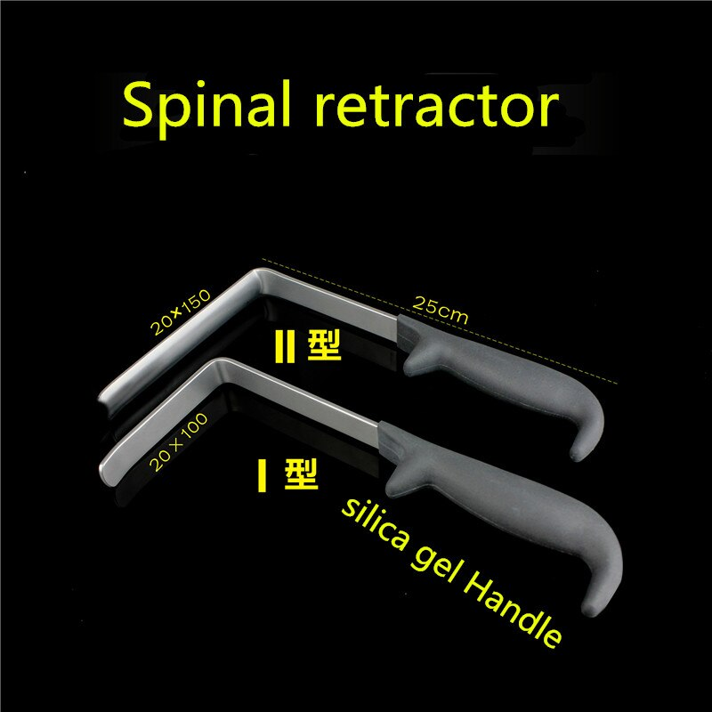 Ortopédico instrumento médico coluna cervical vértebra lombar ângulo direito gancho tecido retractor minimamente invasivo plano côncavo